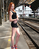 Sample Thumb - Elen in Naked at the Train Station